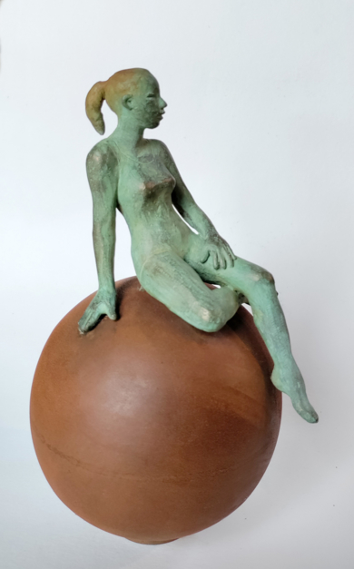Pensativa|EsculturadeCharlotte Adde| Compra arte en Flecha.es