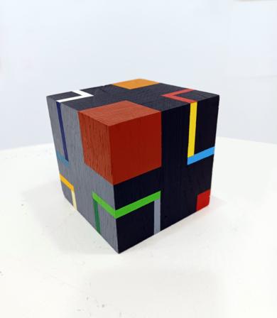 Cube e|EsculturadeLuis Medina| Compra arte en Flecha.es