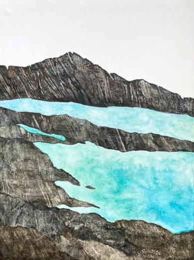 Agua y roca|PinturadeMilena Mateva| Compra arte en Flecha.es