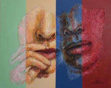 PAREJA 55 PinturadeJuan Chamizo  Compra arte en Flecha.es