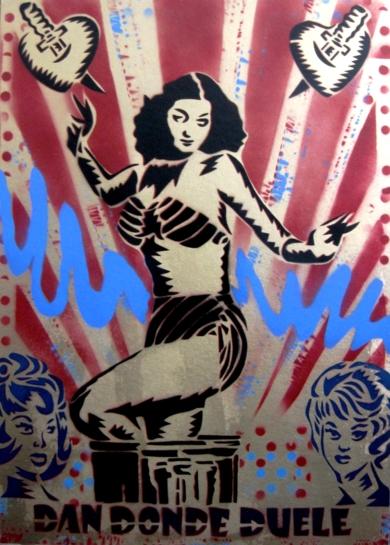 Dan Donde Duele|PinturadeCarlos Madriz| Compra arte en Flecha.es
