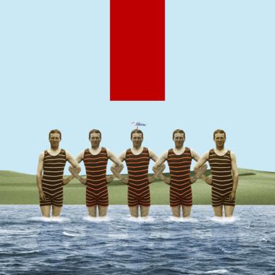 Sauveteurs a Biarrizt|CollagedeGabriel Aranguren| Compra arte en Flecha.es