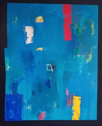Blue composition II|PinturadeLuis Medina| Compra arte en Flecha.es