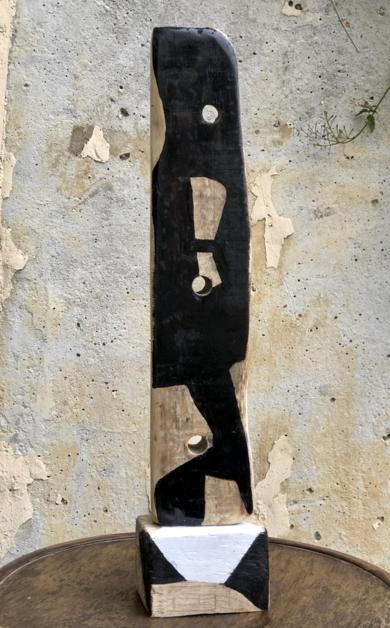 TOTEM B/W|EsculturadeISABELRUIZPERDIGUERO| Compra arte en Flecha.es