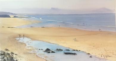 Playa de los vascos , Biarritz|PinturadeChela Grijelmo| Compra arte en Flecha.es