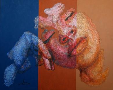 PERSONAJE EN REPOSO PinturadeJuan Chamizo  Compra arte en Flecha.es