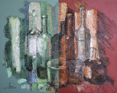 BOTELLÓN A LAS 2 AM|PinturadeJuan Chamizo| Compra arte en Flecha.es