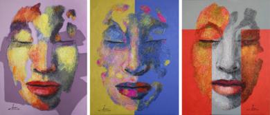 TRÍPTICO PERSONAJES PinturadeJuan Chamizo  Compra arte en Flecha.es