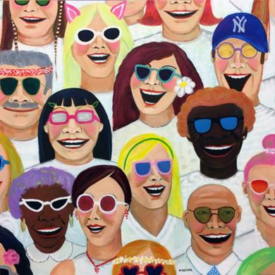 Summer happiness|PinturadeMaría Burgaz| Compra arte en Flecha.es