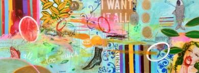 I want it all|CollagedeMaría Burgaz| Compra arte en Flecha.es