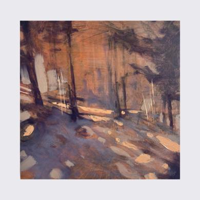 Soft light through the pine forest|PinturadeJENNY FERMOR| Compra arte en Flecha.es