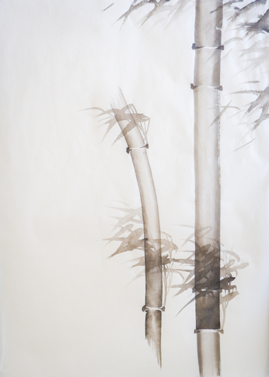 Bambú con viento Nº 4|DibujodeLuciana Rago Ferrón| Compra arte en Flecha.es