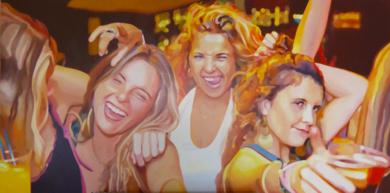 Amigas fiesta|PinturadeJose Belloso| Compra arte en Flecha.es