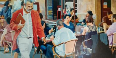 Paseo junto a terraza|PinturadeJose Belloso| Compra arte en Flecha.es