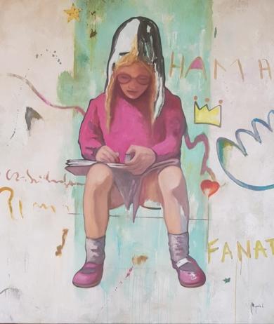Niña pintora|PinturadeMiguel Ángel García López| Compra arte en Flecha.es