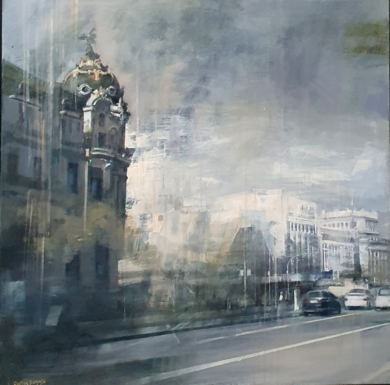 CALLE ALCALÁ|PinturadeCristina Bergoglio| Compra arte en Flecha.es