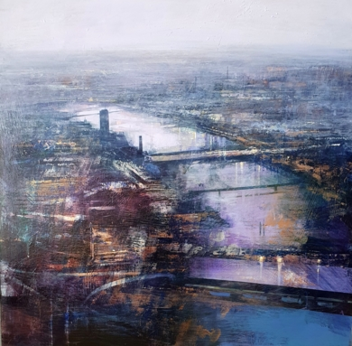 Londres nocturna|PinturadeCristina Bergoglio| Compra arte en Flecha.es