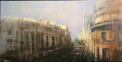 Vista de la Gran Vía|PinturadeCristina Bergoglio| Compra arte en Flecha.es
