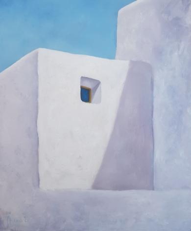Paredes y ventana azul|PinturadeMiguel Ángel García López| Compra arte en Flecha.es
