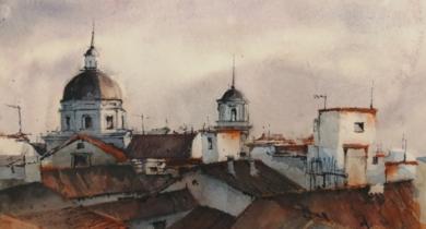 Tejados|PinturadeLuis Imedio| Compra arte en Flecha.es