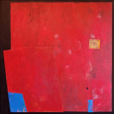 Red  composition II|PinturadeLuis Medina| Compra arte en Flecha.es