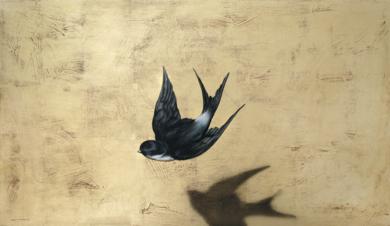 Golondrina y sombra|PinturadeEnrique González| Compra arte en Flecha.es