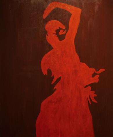 Flamenco 1|PinturadeRobert van Bolderick| Compra arte en Flecha.es