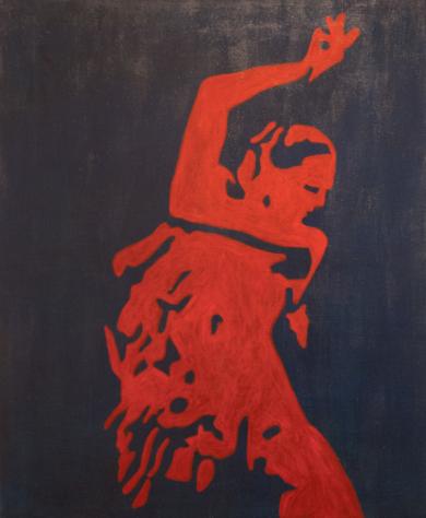 Flamenco 2|PinturadeRobert van Bolderick| Compra arte en Flecha.es