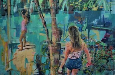 Las reinas del Lago|PinturadeAmaya Fernández Fariza| Compra arte en Flecha.es