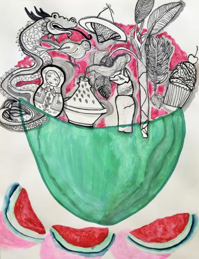 Melting watermelon|DibujodeLisa| Compra arte en Flecha.es