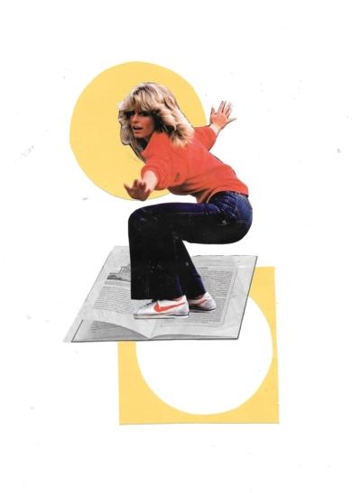 Skating between letters|CollagedeRAQUEL SANTAMARIA| Compra arte en Flecha.es