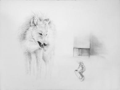 Brecha de silencio IV|DibujodeMónica Torres| Compra arte en Flecha.es