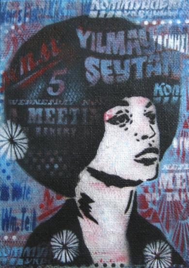 Angela Davis IV|PinturadeCarlos Madriz| Compra arte en Flecha.es