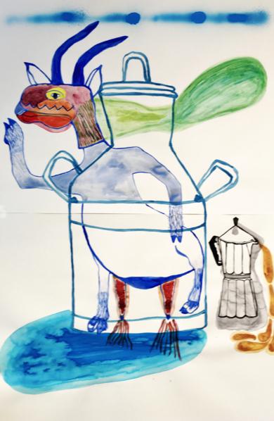 Goat paws in the milky way|DibujodeLisa| Compra arte en Flecha.es