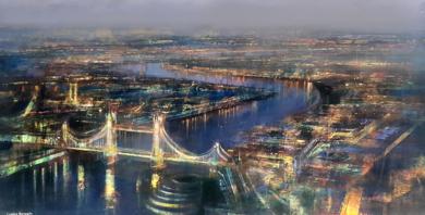 LONDON BY NIGTH|PinturadeCristina Bergoglio| Compra arte en Flecha.es