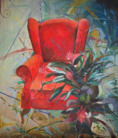 Sillón Rojo|PinturadeAmaya Fernández Fariza| Compra arte en Flecha.es