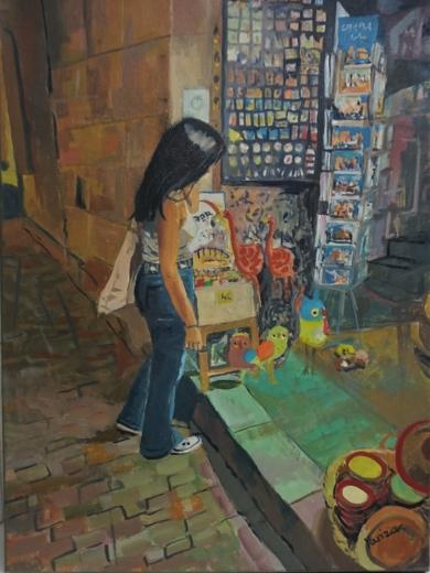 Mercadillo|PinturadeAmaya Fernández Fariza| Compra arte en Flecha.es