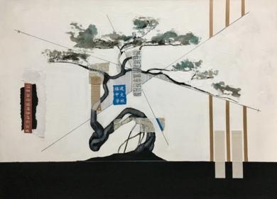 COMPOSICIÓN DE BONSAY|CollagedeMario Sánchez| Compra arte en Flecha.es