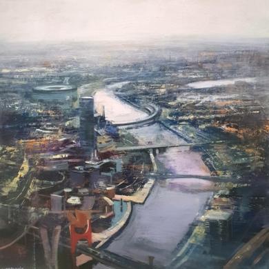 Bilbao desde el Aire|PinturadeCristina Bergoglio| Compra arte en Flecha.es