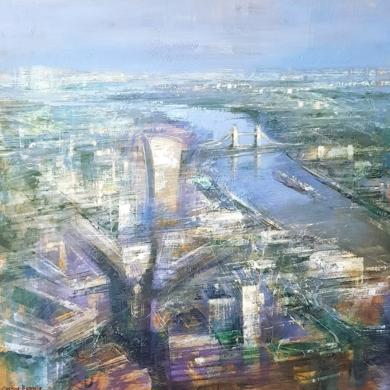 Amanecer en Londres|PinturadeCristina Bergoglio| Compra arte en Flecha.es