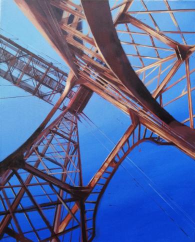 Puente colgante|PinturadeLeticia Gaspar| Compra arte en Flecha.es
