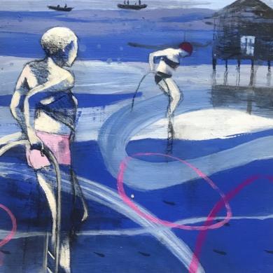 MUJER DE AGUA I|DibujodeMenchu Uroz| Compra arte en Flecha.es