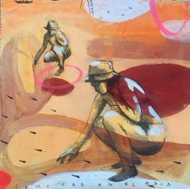 MUJER DE AGUA II|DibujodeMenchu Uroz| Compra arte en Flecha.es