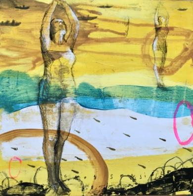 MUJER DE AGUA IV|DibujodeMenchu Uroz| Compra arte en Flecha.es
