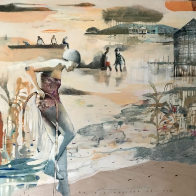 FRENTE AL MAR I|CollagedeMenchu Uroz| Compra arte en Flecha.es