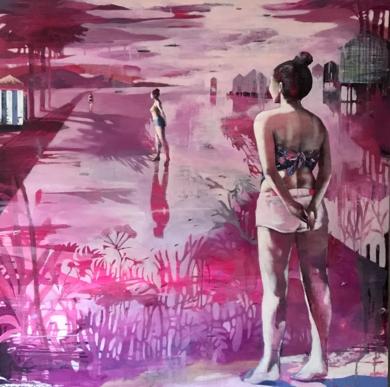 FRENTE AL MAR II|PinturadeMenchu Uroz| Compra arte en Flecha.es