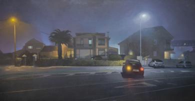 Noche de verano con niebla|PinturadeOrrite| Compra arte en Flecha.es