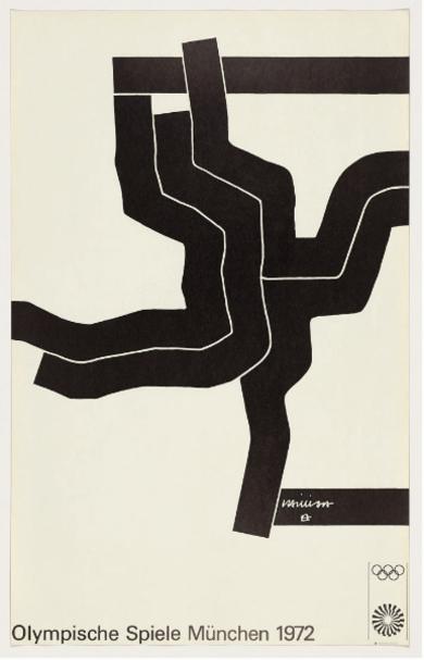 Cartel Original. Juegos Olímpicos Munich|Obra gráficadeEduardo Chillida| Compra arte en Flecha.es