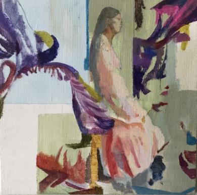 Entre Lirios 2|CollagedeAna Alcaraz| Compra arte en Flecha.es