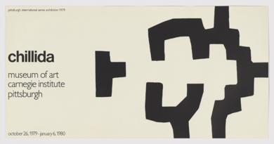 Cartel Museo Carneige, Instituto de Pittsburg|Obra gráficadeEduardo Chillida| Compra arte en Flecha.es